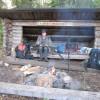 Bernd in einer Lavu-Schutzhütte